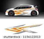 car decal design vector.... | Shutterstock .eps vector #1156122013