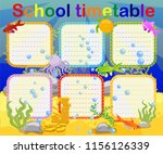 school timetable with marine... | Shutterstock .eps vector #1156126339