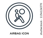 airbag icon vector isolated on... | Shutterstock .eps vector #1156126570