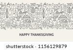 happy thanksgiving banner... | Shutterstock .eps vector #1156129879