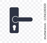 handle vector icon isolated on... | Shutterstock .eps vector #1156130320