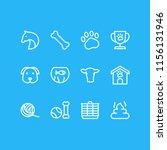 illustration of 12 animal icons ... | Shutterstock . vector #1156131946