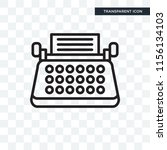 typewriter vector icon isolated ... | Shutterstock .eps vector #1156134103