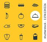 vector illustration of 12 meal...   Shutterstock .eps vector #1156134226