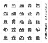 icon set   home filled icon... | Shutterstock .eps vector #1156134310