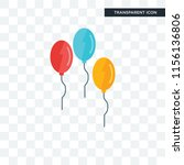 balloon vector icon isolated on ...
