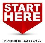 red vector banner start here   Shutterstock .eps vector #1156137526