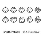line icons of people of... | Shutterstock .eps vector #1156138069