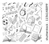 back to school supplies... | Shutterstock .eps vector #1156148899