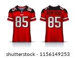 american football jersey t... | Shutterstock .eps vector #1156149253