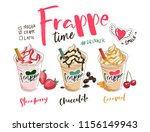 frappe coffees illustration... | Shutterstock .eps vector #1156149943
