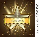 vector movie stars chocolate | Shutterstock .eps vector #115615360