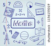 back to school. math lesson | Shutterstock .eps vector #1156155019