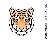 vector tiger illustration... | Shutterstock .eps vector #1156158439