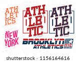 sports graphic for apparel | Shutterstock .eps vector #1156164616