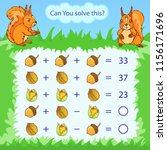 mathematical count game for... | Shutterstock .eps vector #1156171696
