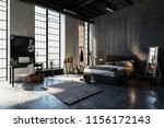 large spacious bedroom in an...   Shutterstock . vector #1156172143