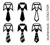 vector tie black symbols | Shutterstock .eps vector #115617439