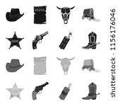 star sheriff  colt  dynamite ...   Shutterstock . vector #1156176046
