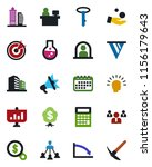 color and black flat icon set   ... | Shutterstock .eps vector #1156179643
