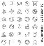 thin line vector icon set  ... | Shutterstock .eps vector #1156180480