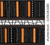 vector seamless aboriginal... | Shutterstock .eps vector #1156181680