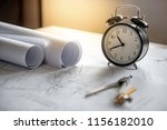 clock and compass tool on... | Shutterstock . vector #1156182010