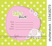 baby shower card | Shutterstock . vector #115618273