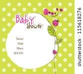 baby shower card | Shutterstock . vector #115618276