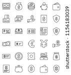thin line vector icon set  ...   Shutterstock .eps vector #1156183039