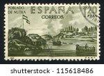 spain   circa 1967  stamp... | Shutterstock . vector #115618486