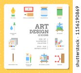 art design icon set by flat... | Shutterstock .eps vector #1156190869