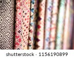 thai silk fabric folded for... | Shutterstock . vector #1156190899