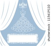 wedding card with dress on...   Shutterstock .eps vector #115619110