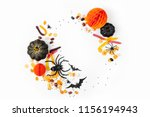 halloween holiday frame with... | Shutterstock . vector #1156194943