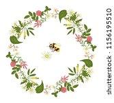 Vector Wreath Of Acacia Heathe...