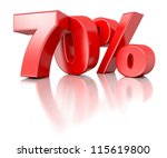 3d shiny red discount... | Shutterstock . vector #115619800