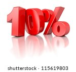 3d shiny red discount... | Shutterstock . vector #115619803