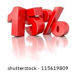 3d shiny red discount... | Shutterstock . vector #115619809