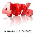 3d shiny red discount... | Shutterstock . vector #115619839