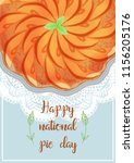 national pie day template... | Shutterstock .eps vector #1156205176