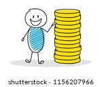 funny cartoon character with... | Shutterstock .eps vector #1156207966
