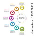 colorful infographic template... | Shutterstock .eps vector #1156208119