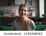 smiling millennial woman... | Shutterstock . vector #1156208563