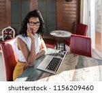 businesswoman working from home ... | Shutterstock . vector #1156209460