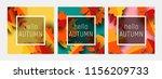 hello autumn greeting card... | Shutterstock .eps vector #1156209733