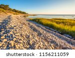 Stony  Curved Coast Line With...