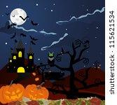 happy halloween theme greeting... | Shutterstock . vector #115621534