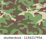 vector camouflage seamless... | Shutterstock .eps vector #1156217956