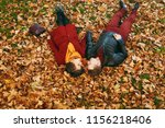 young romantic couple in love... | Shutterstock . vector #1156218406
